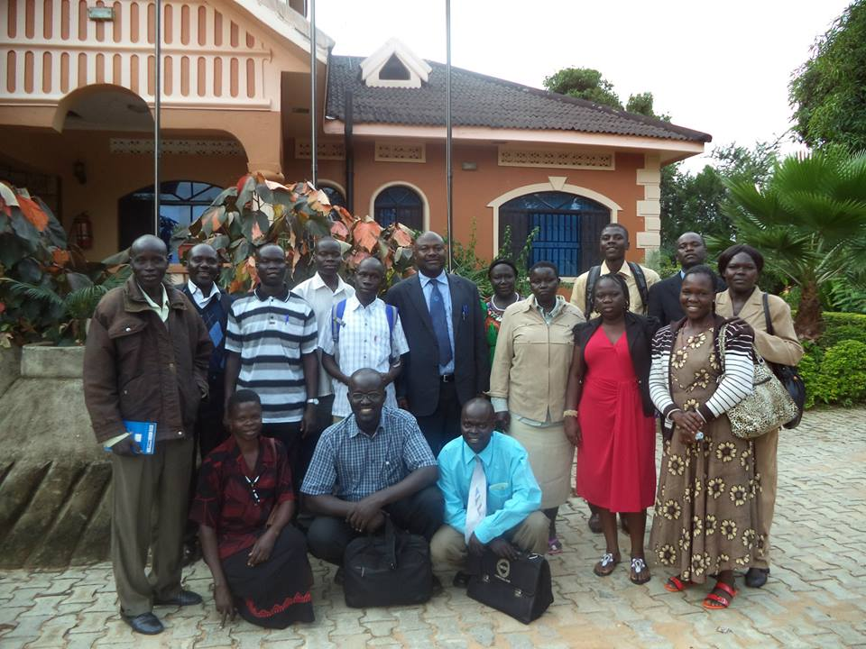Group photo with the Registrar in Moyo Sensitisation Meetig